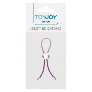 Эрекционное лассо Adjustable Love Ring фиолетовое