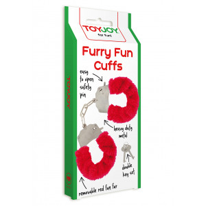 Наручники Furry Fun Cuffs Red Plush