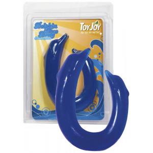 Двойной фаллоимитатор Dolphin Duo Dong Blue