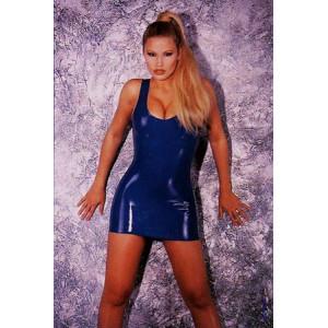 Латексное платье Latex Mini Dress Blue Small