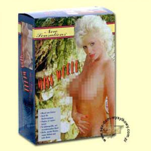 Секс-кукла MISS WORLD, PVC, SHORT BLOND HAIR DOLL