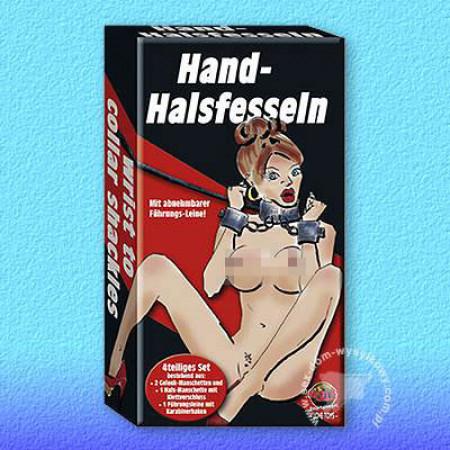 Наручники Hand-Halsfesseln mit Leine