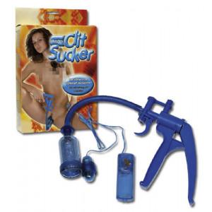 Вакуумная помпа Blue Vibrating Clit Sucker