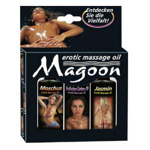Массажное масло Набор 3 в 1 Magoon (мускус, индийское масло любви, жасмин)