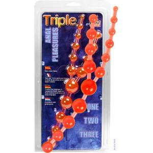 Анальные бусы Triple Anal Pleasure Beads Pk