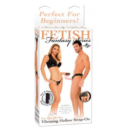 Фаллопротез Ff Vibrating Hollow Strap On - Flesh