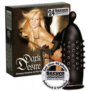 Презервативы Secura Dark Desire FarbNoppe 24 шт