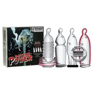 Презервативы Secura Potenz Power Potenz 21 шт